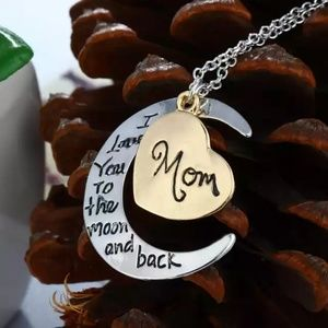 Jewelry - MOM Silver Necklace I Love You To the Moon & Back